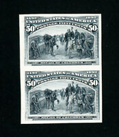 US Stamps # 240 P4 XF Fresh Pair On Cardboard Proof Scott Value $350.00