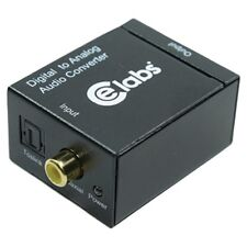 CE labs DAC102 Digital to Analog Audio Converter, Converts TOSLINK/SPDIF to RCA