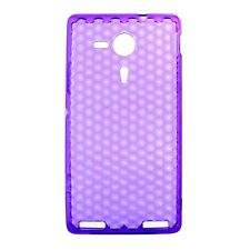 Housse Coque Etui Sony Xperia SP silicone gel Protection arrière - Violet