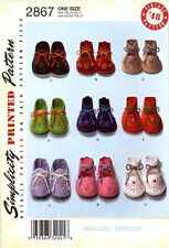 Simplicity Sewing Pattern 2867 Baby Booties shoes - infant boy girl Vintage