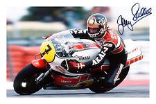 Barry Sheene Firmado Autógrafo Foto impresión Motor ciclo Gp Racing