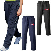 Mens Nine Elasticated Waist Piped Trousers Track Bottoms Sports Training Pants