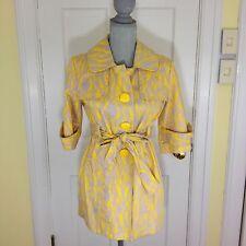 Anthropologie LUII Yellow Belted Jacket Size Small