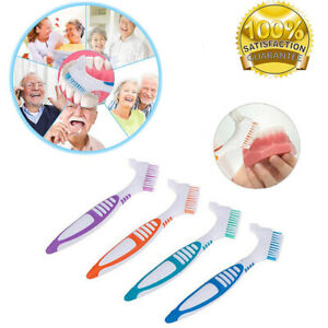 Denture Brush Toothbrush Dental Soft Adult Double Sided Bend Cleaner Brushes AU
