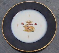 assiettes en porcelaine de limoges a décor de blason ( salamandre et couronne )