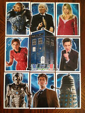 Doctor Who 50th Anniversary Alien Attax Complete Set of Tardis Cards T1-9