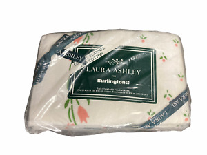 VTG Laura Ashley NEW Castleberry Cottage 2 Flannel Pillowcases Tulips Pink