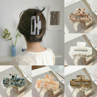 Acetate Acrylic Square Hair Clips Claw Crab Super Large Geometric Barrettes AU