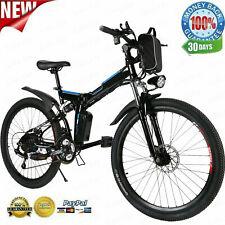26INCH 350W Electric Bike Folding Mountain Bicycle EBike E-Bike Shimano 21 Speed