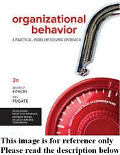 Organizational Behavior 2nd by Kinicki,Fugate Int'l Ed.US Delivery 3-4 bus days