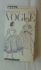 Vtg 50s Vogue Sewing Dress Pattern 1577 dated 1957 complete! West Side Story