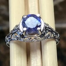 Genuine 1.2ct Tanzanite Accent Stone 925 Solid Sterling Silver Engagement Ring 9