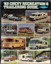 1982 Chevrolet RV & Towing Brochure Pickup Suburban Van Wagon Motor Home Camper