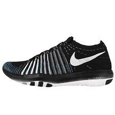 Wmn's Nike Free Transform Flyknit Running Shoes Blk/Wht/Grey 833410 001 Sz 8.5