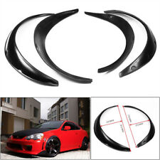 4PCS Universal Car SUV Black Exterior Fender Flares Polyurethane/PU Kit Grand