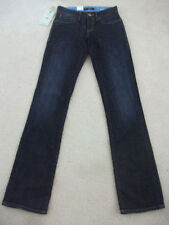 Cotton Mid-Rise Straight Leg Jeans for Women