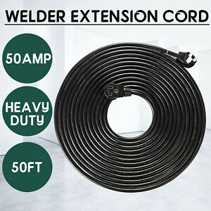50FT 220V Welder Extension Cord  50 Amp 10/3 Power Cords For MIG TIG Plasma