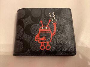 Coach Monogram Robot Wallet