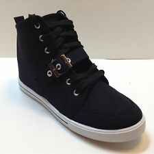 Women's New Black High Top Lace Up Sneakers Flat Casual Shoes star from 8.99 up