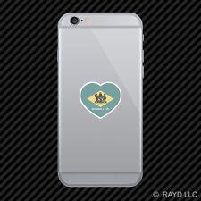 Delaware Heart Cell Phone Sticker Mobile DE love hearts pride native