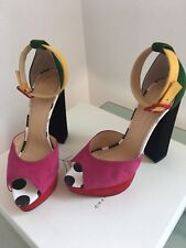 Eugenie Suede Platform Heels By Charlotte Olympia 80's Memphis Nagel Style