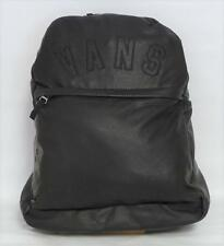 Vans Off The Wall Quad Squad Black Faux Leather Perforated Backpack New NWT
