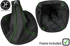 GREEN STITCH LEATHER GEAR BOOT WITH PLASTIC FRAME FITS ALFA ROMEO MITO 08-17
