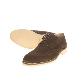 RRP €125 BORGO MEDICEO Leather Derby Shoes EU 40 UK 6 US 7 Brogue Made in Italy