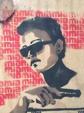RARE !! M.I.A. ORIGINAL ART WORK SIGNED MAYA ARVLPRAGASAM TAMIL TIGER STENCIL