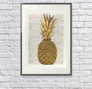 Pineapple Print: Vintage Dictionary Print/Art : Laura Ashley Season, Kitchen