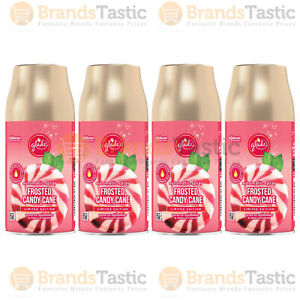 4 X GLADE AUTOMATIC SPRAY FROSTED CANDY CANE OFFICE AIR FRESHENER REFILLS 269ML