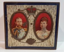 Biscuit Tea Sweets Cigar Tin King Queen England Embossed Royal Family