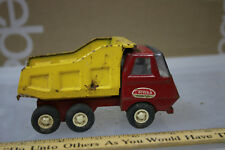 Vintage 60's Mini Tonka Dump Truck RED and YELLOW WOW  JSH