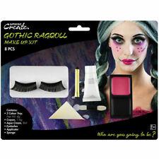 Gothic Rag Doll Make Up Kit with Eyelashes AMSCAN
