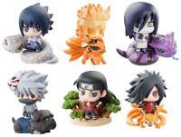 """6x Naruto 2.5"""" Mini Action Figures Set: Kakashi Sasuke Madara Orochimaru & More"""