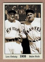 Babe Ruth & Lou Gehrig '35, Monarch Corona Immortals #2, nm-mint cond.