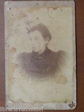 Vecchia foto su cartoncino inizi 900 fotografia antica Ad LOVAZZANO NOVARA donna
