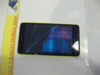 Nokia Lumia 625 - 8GB - Yellow (VIRGIN & EE UK NETWORK LOCKED)***CRACKED LCD***