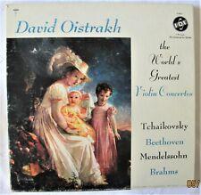 David Oistrakh The World's Greatest Violin Concertos Vox VSPS-3 3 LP Box