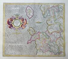 MERCATOR HONDIUS ENGLAND WESTMORLAND WESTMORLANDIA LANCASTRIA CESTRIA FLINT 1606