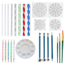 25pcs/set Mandala Dotting Tools Rock Painting Kit Dot Nail Art Pen Paint Stencil