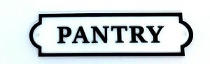 """Quality Customisable Acrylic """"PANTRY"""" Door Sign. Various Colours Available"""
