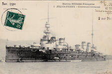 1905 Rare French Navy Ship Jules Ferry Armored Cruiser Stamped Fine Postcard RPP