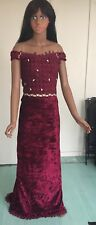 Wine Long  Fitted Dress Size 6.