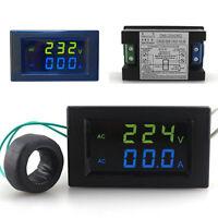 AC80-300V / 100A Dual Digital LED AC Voltage Current Panel Meter Voltmeter Tools