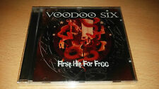 Voodoo Six - First Hit For Free CD 2008, UK Heavy Metal Iron Maiden Tour SEALED