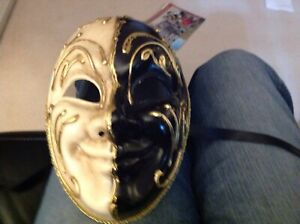 Original Venezia  Hand Painted Wearing  Face Mask made in Italy