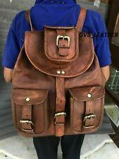 Genuine Leather Rucksack Vintage Backpack Day pack Travel Walking Handmade Bag