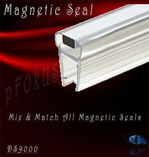 "5/16"" to 3/8"" Magnetic Profile for Glass-To-Glass Shower Door Seal - 32"" Length"