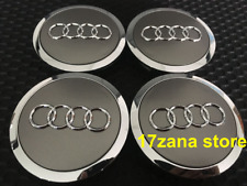 4 x AUDI CENTRE CAPS 69mm alloy wheel center caps Badges A 1 2 3 4 5 6 8 Q RS S